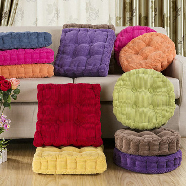 Superbe Soft Round Thickened Fiber Seat Cushion Chunky Home Sofa Office Chair Floor  Pillow