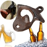 Metal Retro Wall Mounted Bottle Opener Hanging Hook Beer Bottle Opener