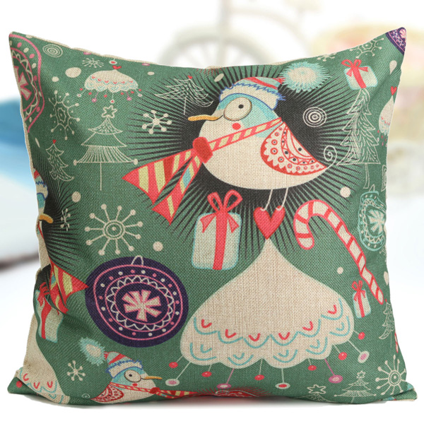Cute Office Pillow : Cute Christmas Series Decorative Throw Pillow Case Square Sofa Office Cushion Cover Alex NLD