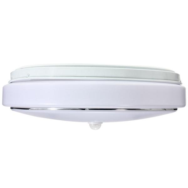 Led Ceiling Lights With Sensor: 12W PIR Infrared Motion Sensor Flush Mounted LED Ceiling Light AC110-265V