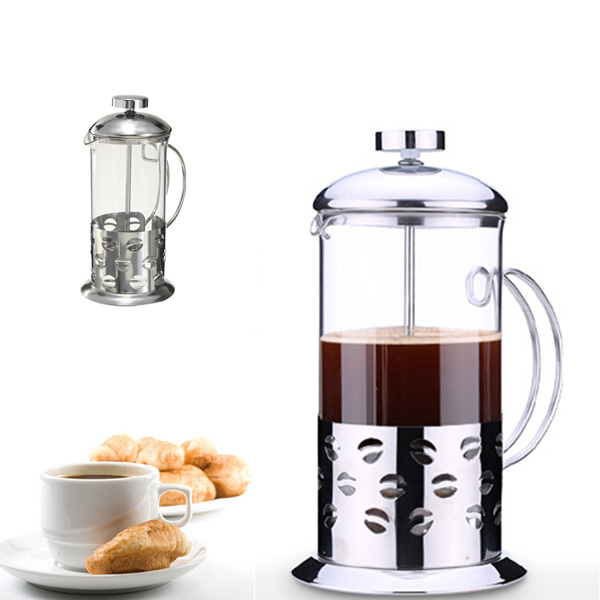 stainless steel glass teapot cafetiere french coffee tea filter press plunger alex nld. Black Bedroom Furniture Sets. Home Design Ideas
