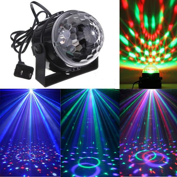 Mini RGB LED Party Disco Club DJ Light Crystal Magic Ball ...