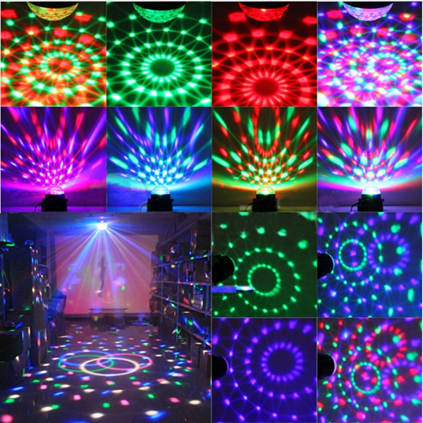 Mini Rgb Led Party Disco Club Dj Light Crystal Magic Ball