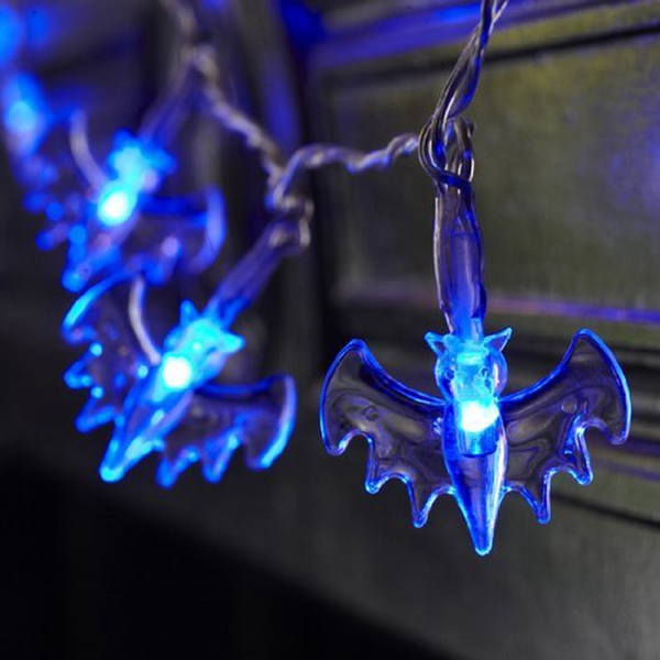 20 LED Battery Operated Bat Fairy String Lights for Halloween Party Decoration Alex NLD