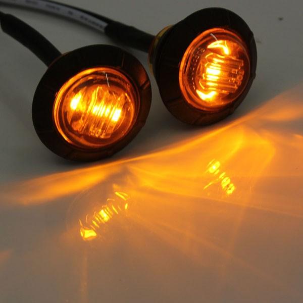 12V-24V LED Side Marker Light Indicator Lamp Car Bus Truck Trailer Caravan Lorry