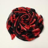 Women Lady Poppy Print Long Winter Warm Flower Scarves Stole Shawl Pashmina