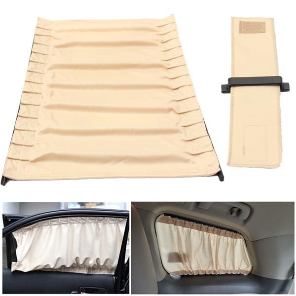 2pcs 70cm Mesh L Auto Rear Valance Sunshade Drape Visor