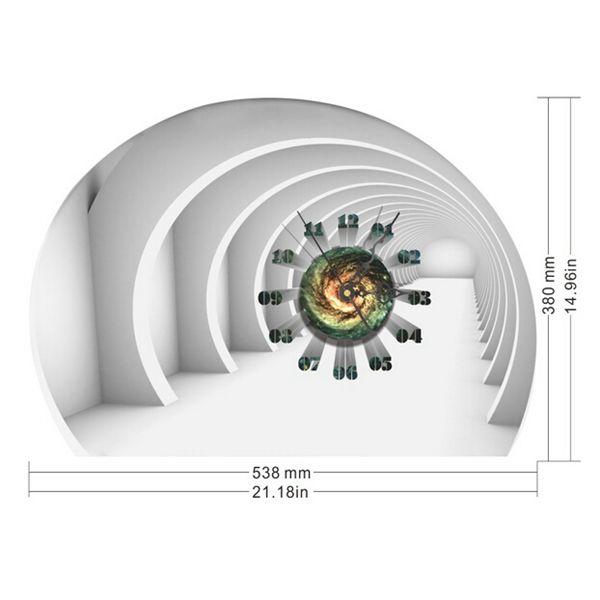 DIY Decal Clock Tunnel 3D Wall Stickers Clock 3D Art Wall Clock Home Decor