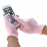 HAWEEL Kids Three Fingers Touch Screen Gloves for iPhone 6s & 6s Plus / iPhone 6 & 6 Plus / iPhone 5 & 5S / iPad / iPod touch (Pink)
