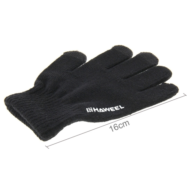 HAWEEL Kids Three Fingers Touch Screen Gloves for iPhone 6s & 6s Plus / iPhone 6 & 6 Plus / iPhone 5 & 5S / iPad / iPod touch (Black)