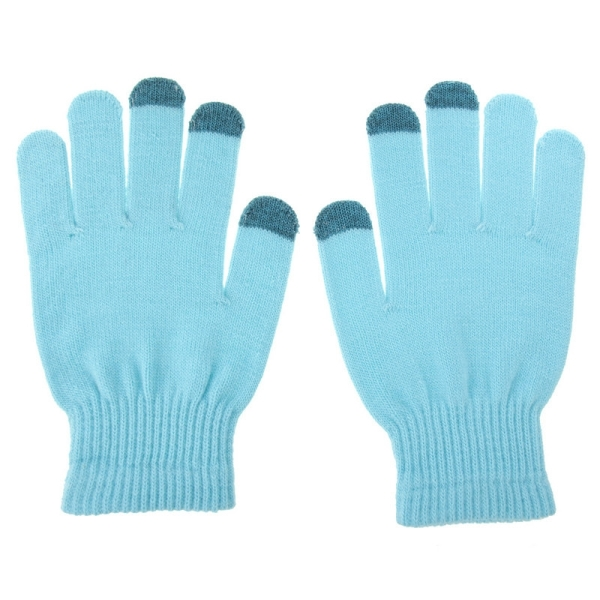 HAWEEL Mens Three Fingers Touch Screen Gloves for iPhone 6s & 6s Plus / iPhone 6 & 6 Plus / iPhone 5 & 5S / iPad / iPod touch (Blue)