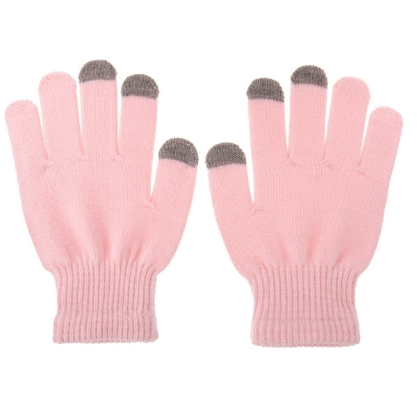 HAWEEL Womens Three Fingers Touch Screen Gloves for iPhone 6s & 6s Plus / iPhone 6 & 6 Plus / iPhone 5 & 5S / iPad / iPod touch (Pink)