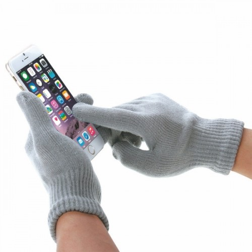 HAWEEL Womens Three Fingers Touch Screen Gloves for iPhone 6s & 6s Plus / iPhone 6 & 6 Plus / iPhone 5 & 5S / iPad / iPod touch (Grey)
