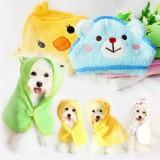 Pets Dog Cat Puppy Doggy Towel Cute Bathrobe Cartoon Absorbent Pet Bath Towel Blanket