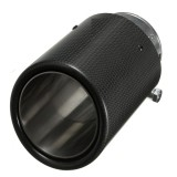 Carbon Fiber Exhaust Muffler Tip Pipe 90mm Outlet Dia 60mm Inlet Dia for BMW