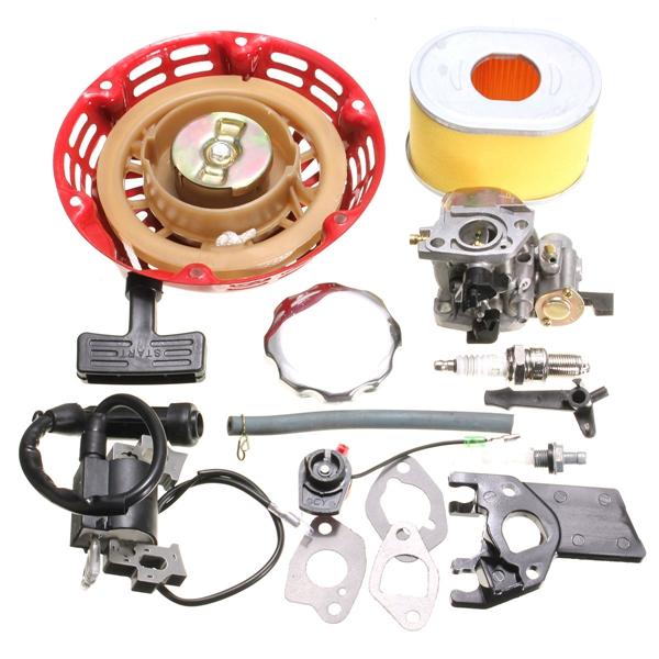recoil carburetor ignition coil spark plug air filter gas Horsepower Honda GX160 GX160 Parts List