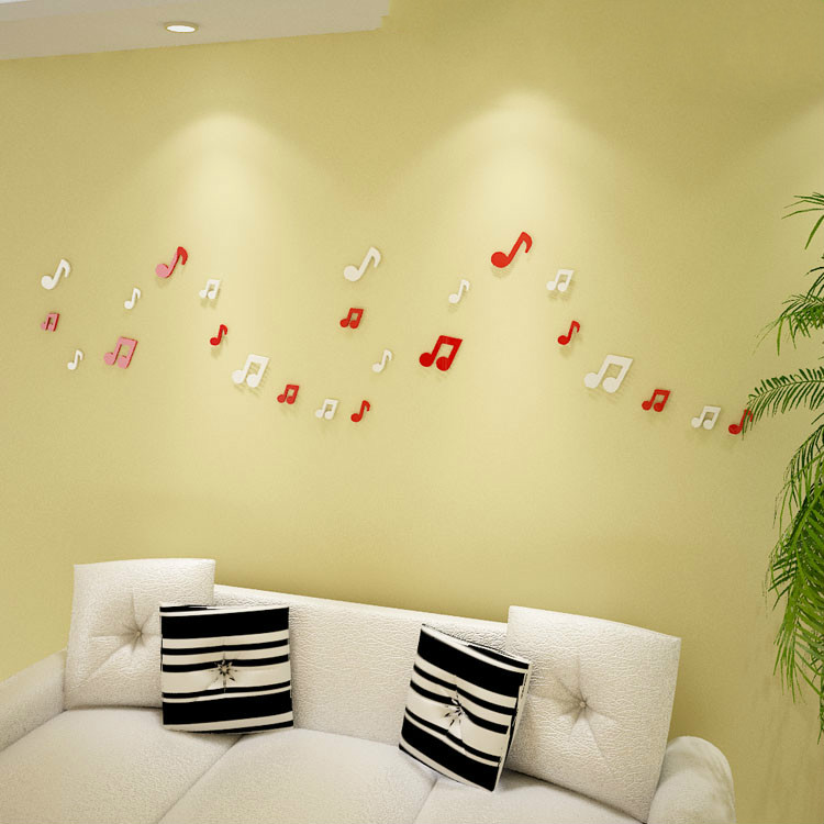 Colorful Musical Note Wall Art Ideas - Wall Art Design ...