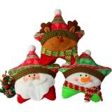 Christmas Series Santa Claus Snowman Deer Throw Pillow Pentagram Cushion Home Car Decor