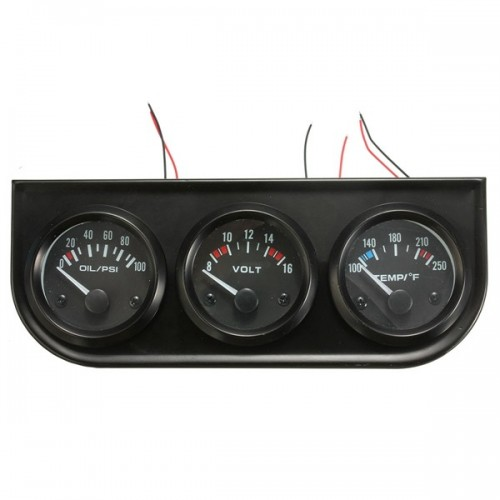 Electronic Voltmeter Gauges Oil And Water : Inch mm oil pressure volt water temp electronic