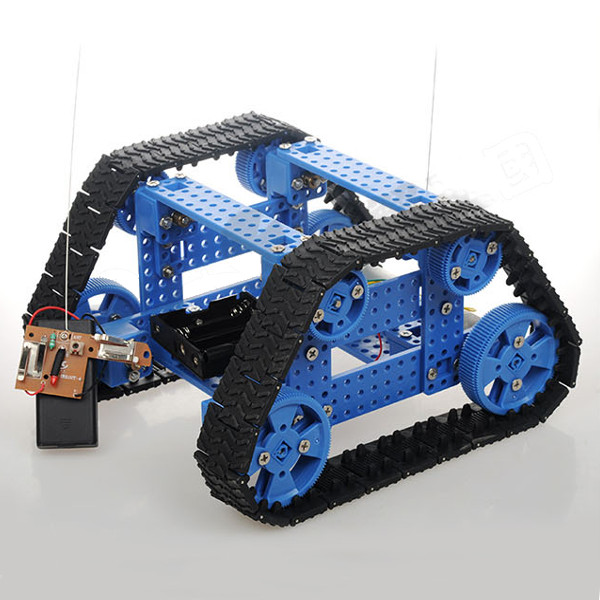 Diy Trapezoidal Tracked Smart Car Kit With Remote Control Robot Toy