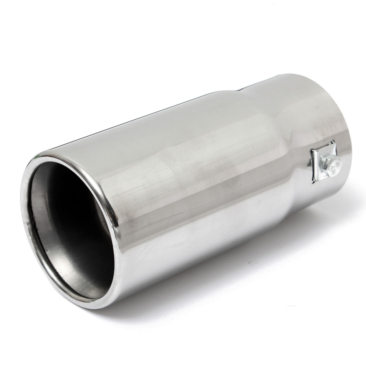 Round universal fits car stainless steel exhaust tail pipe