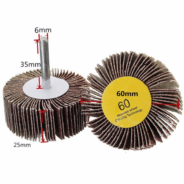 Abrasive Sanding Flap Wheel Disc 6mm Drill Shank 60~320 Grit Rotary Tool