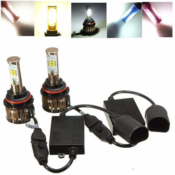 A Pair 80W 9004/9007/9005/9006/H7/H8/H9/H11 XTE LED Beam Headlight Kit 6000K