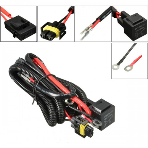 h11 880 relay wiring harness xenon hid conversion kit add. Black Bedroom Furniture Sets. Home Design Ideas