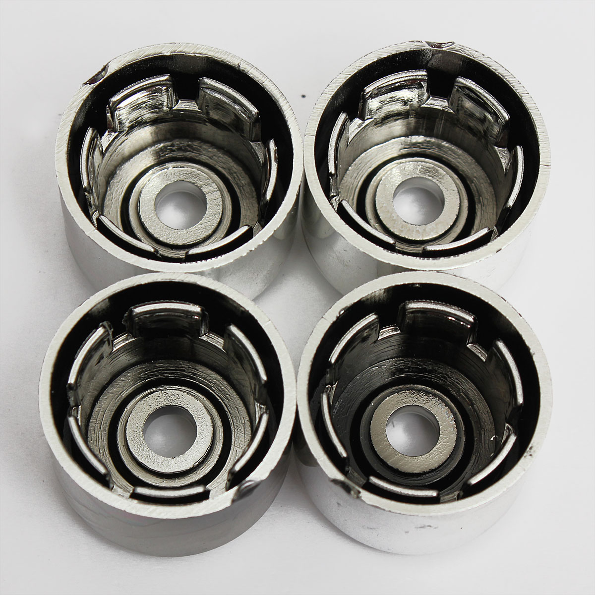 17mm Chrome Alloy Wheel Locking Nut Bolts Covers Caps For