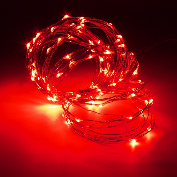 10M 100 LED Copper Wire Fairy String Light Battery Powered Waterproof Xmas Party Decor