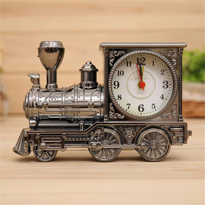 Retro Train Creative Alarm Clock Vintage Simulation Steam ...
