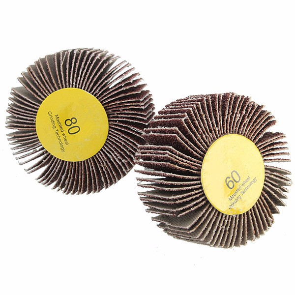 Details about  /60//80 Grit 6mm Shank Flap Wheel Disc Sanding Abrasive Grinding Wheel for Rotary