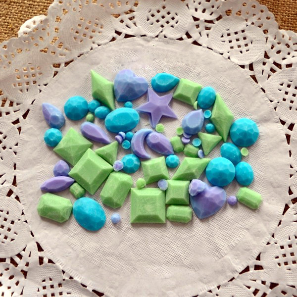 Mini Gem Diamond Shape Fondant Mold Silicone Cake Candy Chocolate Mould Cake Decorating Tool