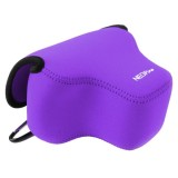 NEOpine Neoprene Shockproof Soft Case Bag with Hook for Canon SX60 Camera (Purple)