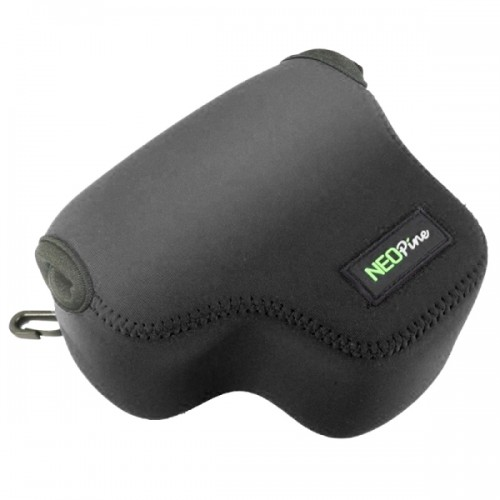 NEOpine Neoprene Shockproof Soft Case Bag with Hook for Canon PowerShot G3X Camera (Black)
