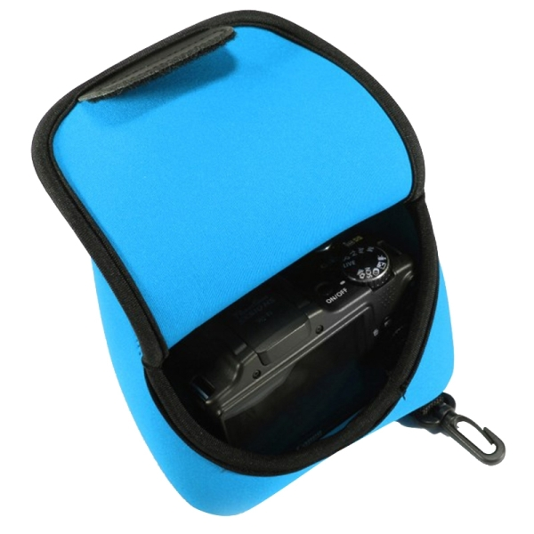 NEOpine Neoprene Shockproof Soft Case Bag with Hook for Canon PowerShot G3X Camera (Blue)