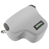 NEOpine Neoprene Shockproof Soft Case Bag with Hook for Canon PowerShot G3X Camera (Grey)