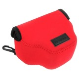 NEOpine Neoprene Shockproof Soft Case Bag with Hook for Canon SX510 Camera (Red)