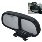 Left Side Rear View Blind Spot Mirror Universal adjustable Wide Angle Auxiliary Mirror (Black)