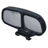 Right Side Rear View Blind Spot Mirror Universal adjustable Wide Angle Auxiliary Mirror (Black)