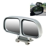 Right Side Rear View Blind Spot Mirror Universal adjustable Wide Angle Auxiliary Mirror (Silver)