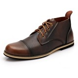 Big Size Men Formal Business Boots Lace Up Pointed Toe Shoes Casual Shoes