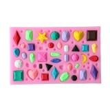 Mini Gem Diamond Shape Fondant Mold Silicone Cake Candy Chocolate Mould Cake Decorating Tool