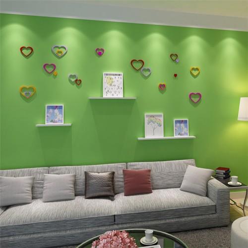5Pcs 10 Colors DIY Heart Shape Wall Stickers Decal Acrylic ...