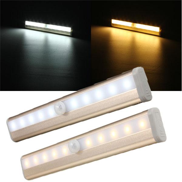 10 led cabinet light pir human body motion sensor lamp cupboard closet led night light led strip. Black Bedroom Furniture Sets. Home Design Ideas