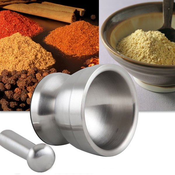 304 Stainless Steel Garlic Pepper Mill Ginder Salt Spice Mill