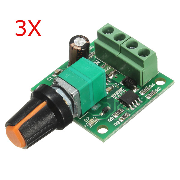 3pcs low voltage dc 1 8v 3v 5v 6v 12v 2a motor speed for Low voltage motor control
