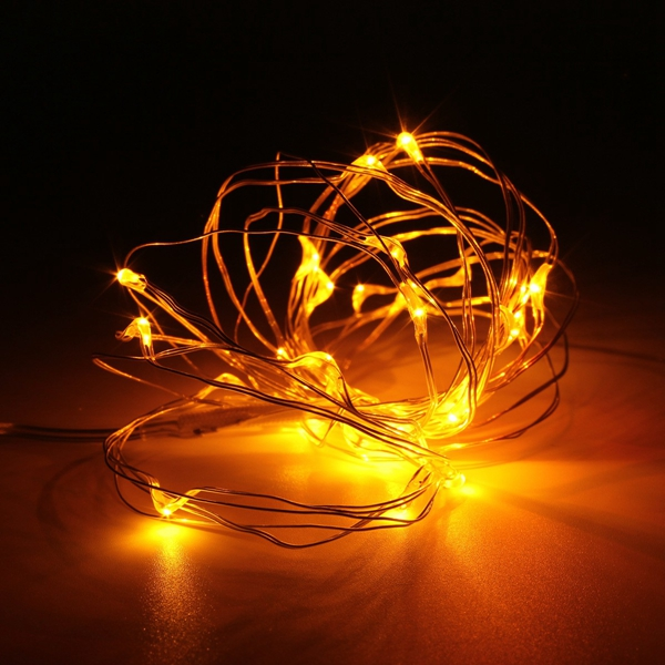 10M 100 LED Silver Wire Fairy String Light Battery Powered Waterproof Xmas Party Decor