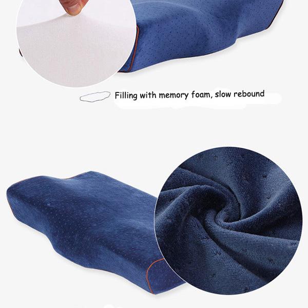 Slow Rebound Butterfly Memory Foam Pillow Headrest Anit-Snoring Neck Pillow Car Office Home Cushion