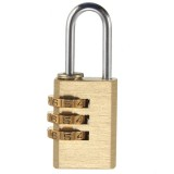 Heavy Security 3 Digit Brass Code Combination Padlock Luggage Gym Locker Toolbox Lock